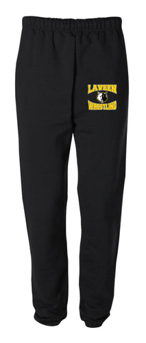 Laveen Wrestling Cotton Sweatpants - Black