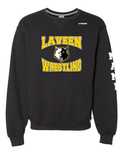 Laveen Wrestling Russell Athletic Cotton Crewneck Sweatshirt - Black