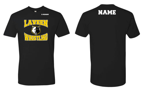 Laveen Wrestling Cotton Crew Tee - Black