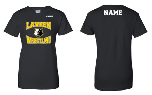 Laveen Wrestling Cotton Women's Crew Tee - Black