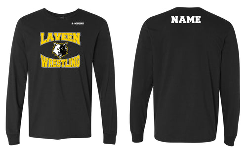 Laveen Wrestling Cotton Long Sleeve - Black
