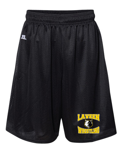 Laveen Wrestling Russell Athletic  Tech Shorts - Black