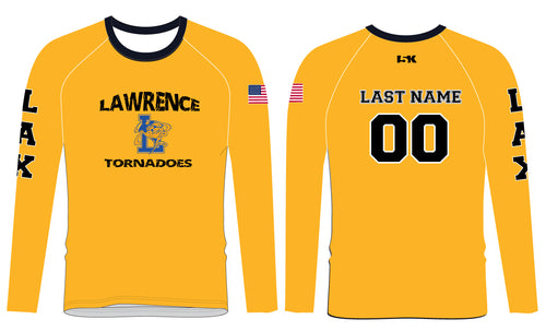 Lawrence LAX Long Sleeve Compression Shirt - Athletic Gold