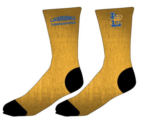 Lawrence HS Sublimated Socks - Gold
