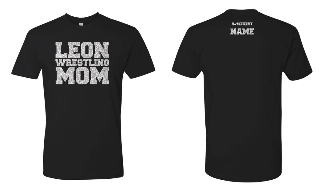 Leon HS Glitter Cotton Crew Tee Mom