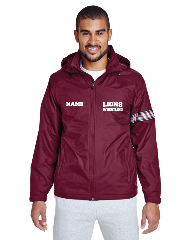 Leonia Wrestling All Season Hooded Jacket - Maroon