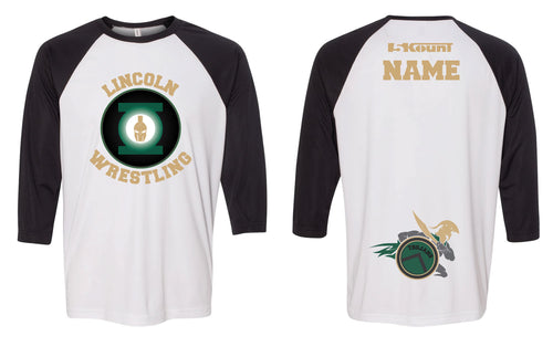 Lincoln HS Wrestling Baseball Shirt - 5KounT