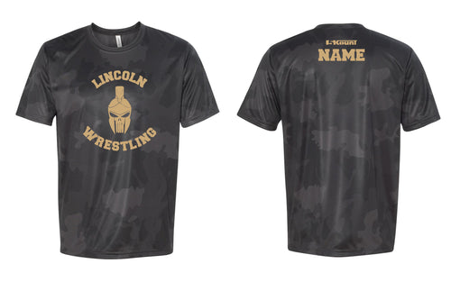Lincoln HS Wrestling Laser Camo Tech Tee - 5KounT2018