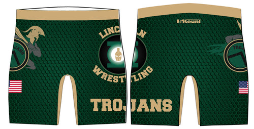 Lincoln HS Wrestling Sublimated Compression Shorts - 5KounT