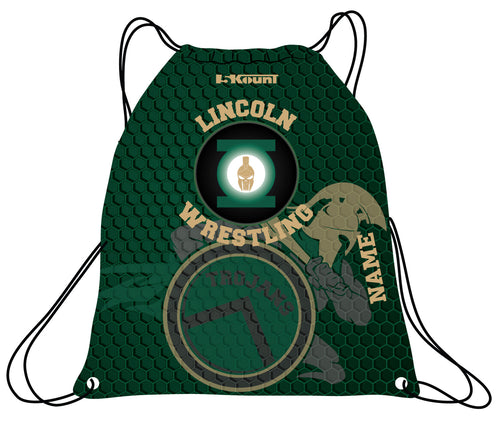 Lincoln HS Wrestling Sublimated Drawstring Bag - 5KounT