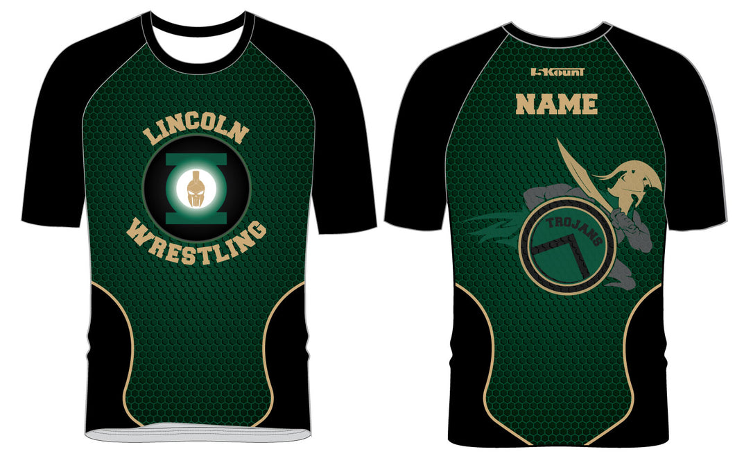 Lincoln HS Wrestling Sublimated Fight Shirt - 5KounT2018