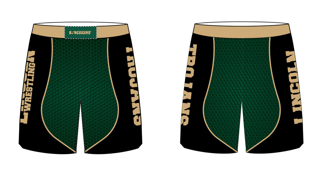 Lincoln HS Wrestling Sublimated Fight Shorts - 5KounT2018