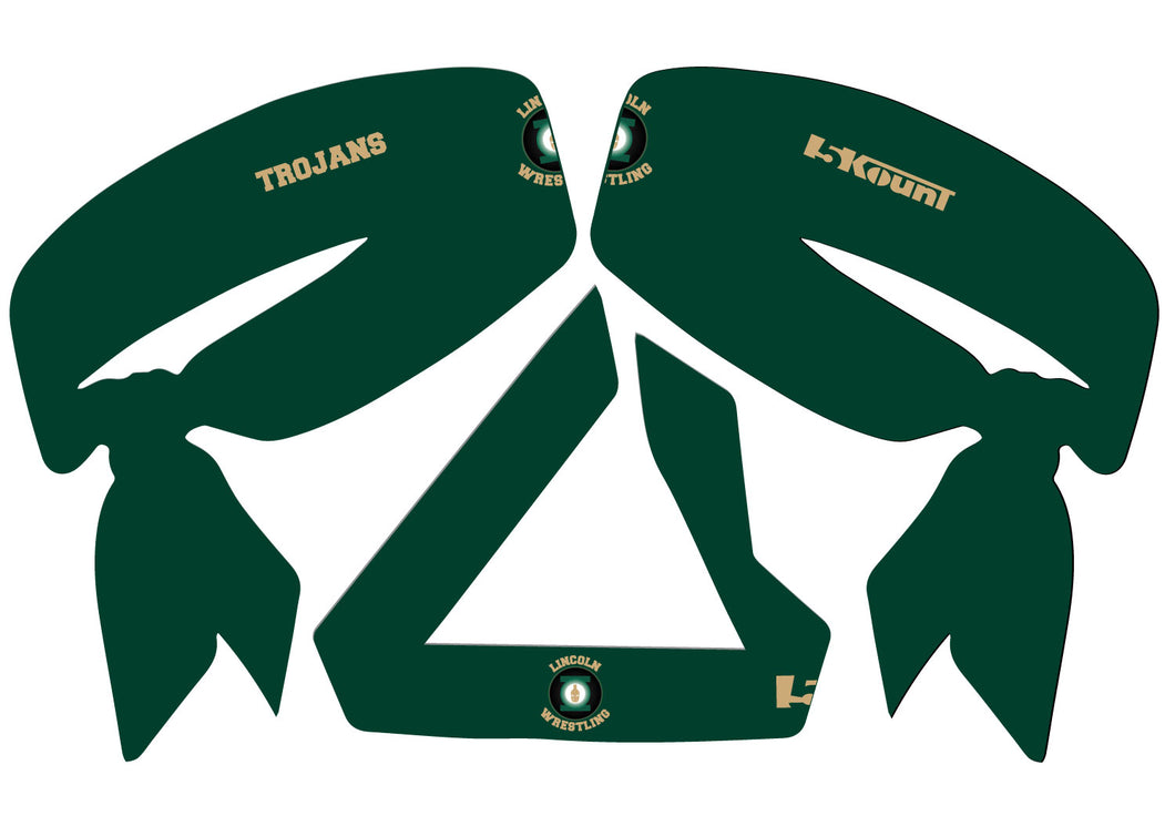 Lincoln HS Wrestling Sublimated Headband