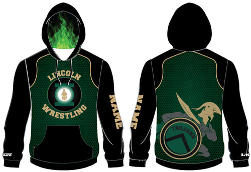 Lincoln HS Wrestling Sublimated Hoodie - 5KounT2018