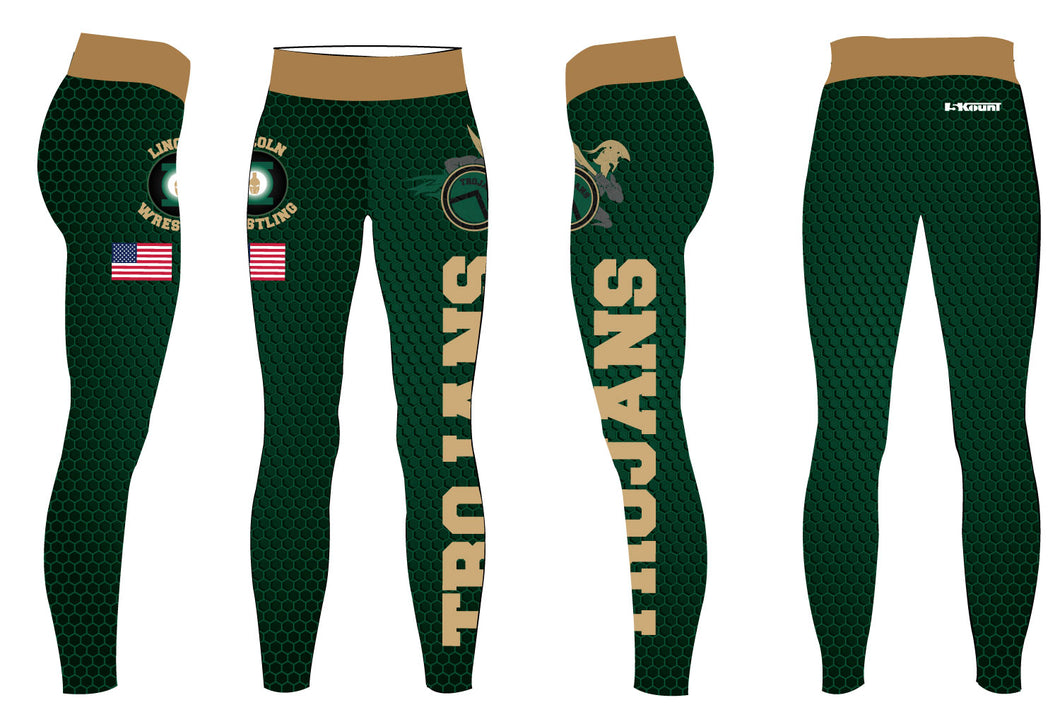 Lincoln HS Wrestling Sublimated Ladies Legging