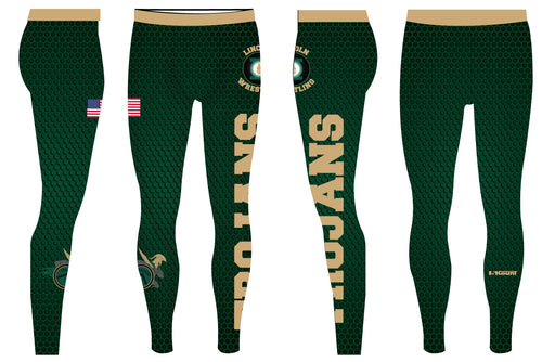 Lincoln HS Wrestling Sublimated Mens Legging - 5KounT