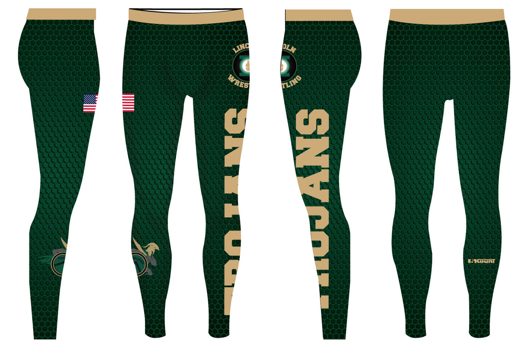 Lincoln HS Wrestling Sublimated Mens Legging