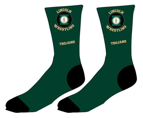 Lincoln HS Wrestling Sublimated Socks - 5KounT
