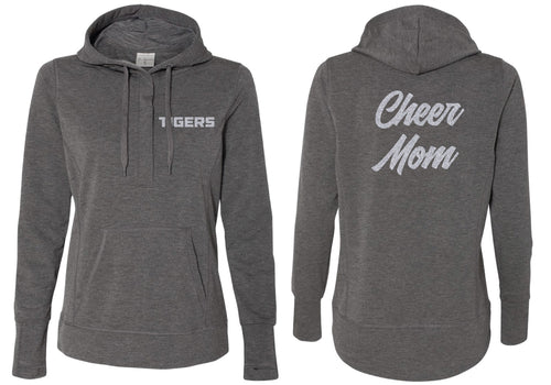 Linden Cheer MOM Terry Snap Placket Hooded Pullover - 5KounT