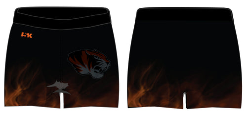 Linden Cheer Sublimated Shorts - Flames - 5KounT