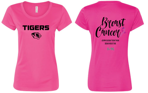 Linden Football Breast Cancer Awareness DryFit Tee - Womens - 5KounT2018
