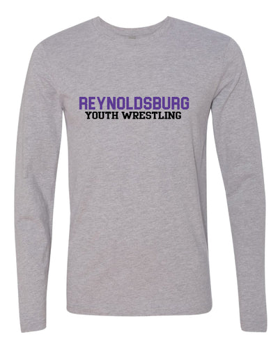 Reynoldsburg Wrestling Long Sleeve Cotton Crew - Heather Grey