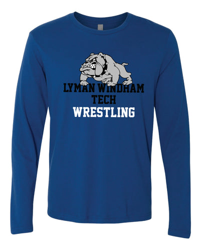 Lyman Windham Tech Wrestling Long Sleeve Cotton Crew - Royal