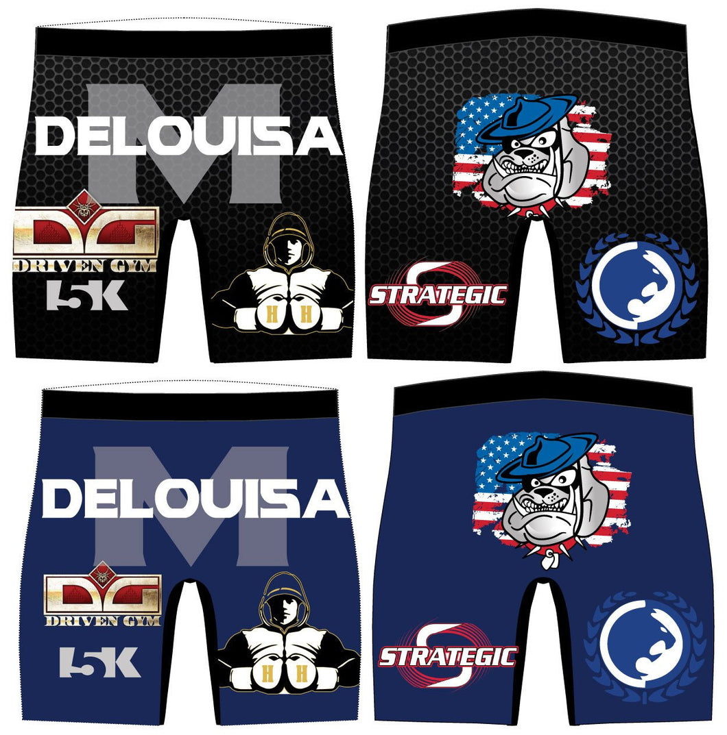 DeLouisa MMA Sublimated Compression Shorts - 5KounT2018