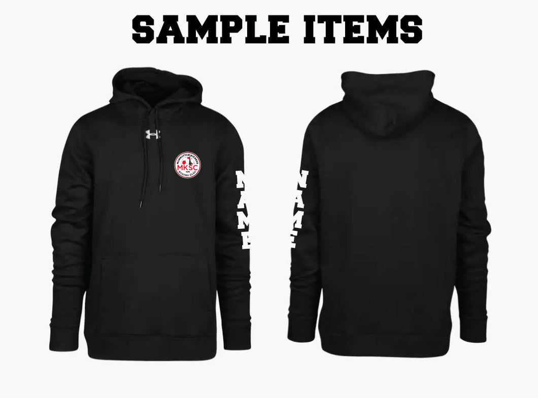 MKSC Under Armour Fleece Hoodie Black (sample items)