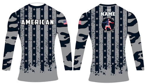 American MMA Wrestling Sublimated Compression Shirt Long Sleeve