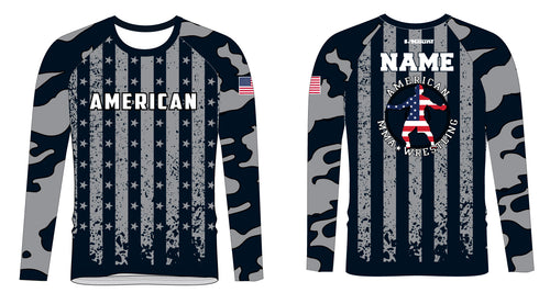 American MMA Wrestling Sublimated Shirt Long Sleeve
