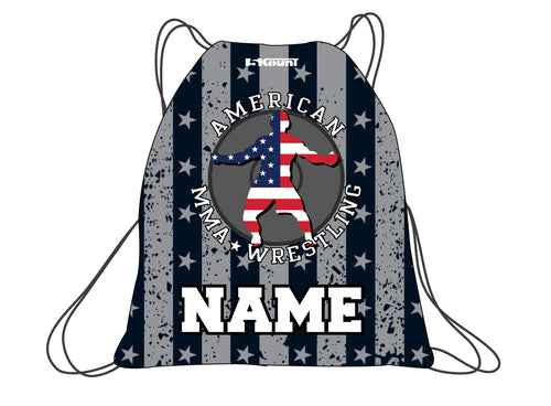 American MMA Wrestling Sublimated Drawstring Bag
