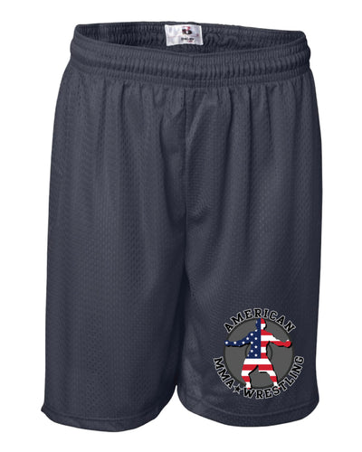 American MMA Wrestling Tech Shorts Navy/Gray