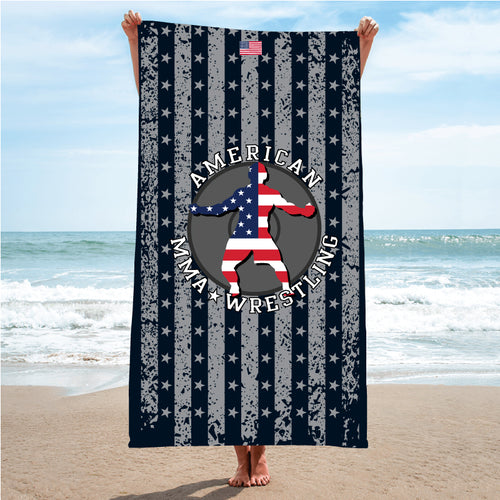 American MMA Wrestling Sublimated Beach Towel