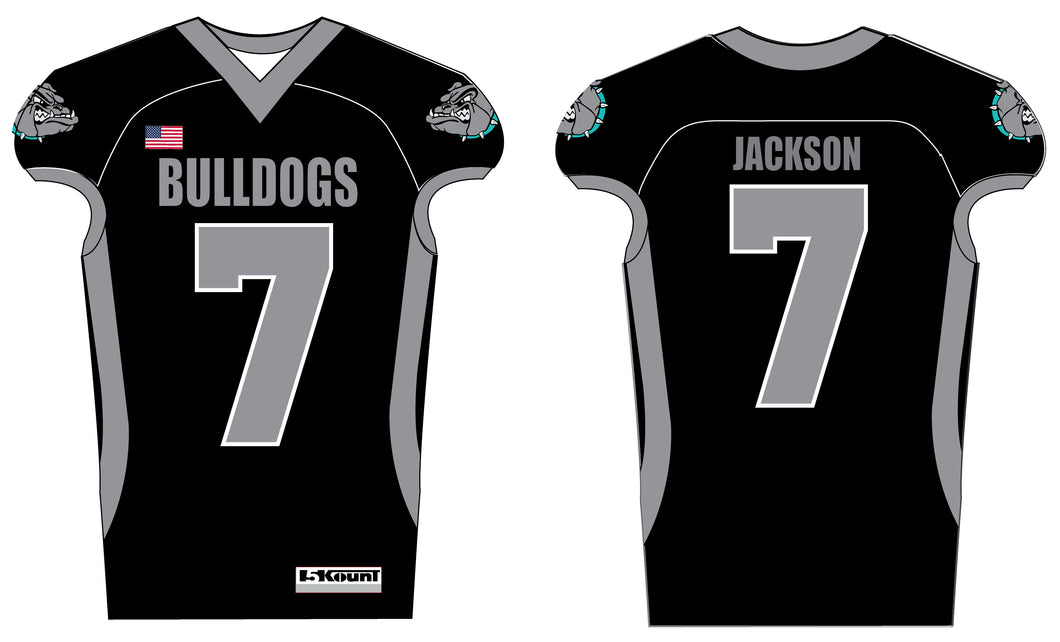 Moyock Bulldogs Football  Sublimated Jersey - Black