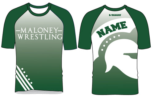 Maloney HS Wrestling Sublimated Fight Shirt - 5KounT2018