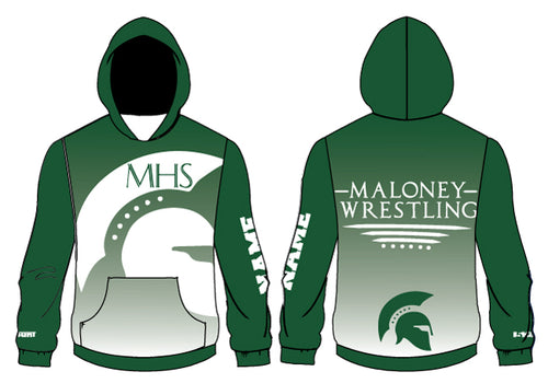 Maloney HS Wrestling Sublimated Hoodie - 5KounT2018