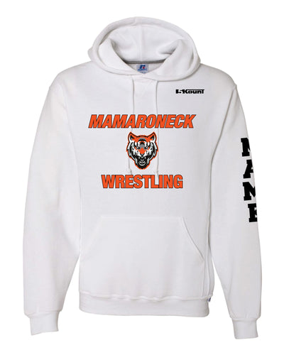 Mamaroneck Wrestling Russell Athletic Cotton Hoodie - White - 5KounT2018