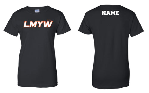 LMYW Cotton Women's Crew Tee - Black - 5KounT2018