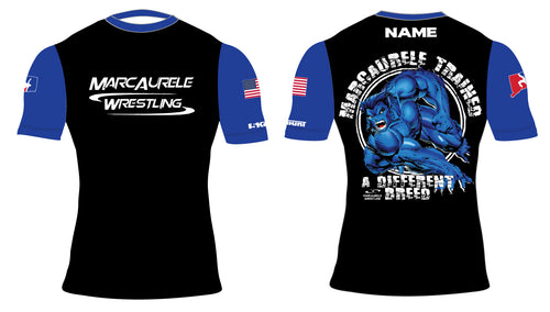 MarcAurele Sublimated Compression Shirts - Black/Royal/White