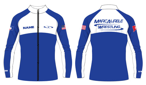 MarcAurele Sublimated WarmUp Full Zip Jacket - Solid Royal and Solid Black