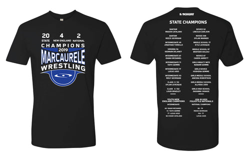 2019 MarcAurele Championship Cotton Crew Tee - Black/Heather Grey