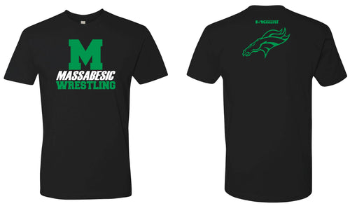 Massabesic Youth Wrestling Cotton Crew Tee (Men's / Women's) - Black - 5KounT2018