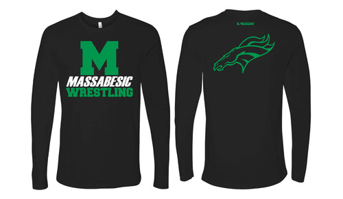 Massabesic Youth Wrestling Cotton Long Sleeve Tee - Black - 5KounT2018