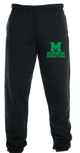 Massabesic Youth Wrestling Cotton Sweatpants - Black - 5KounT2018