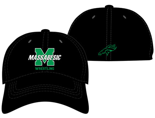 Massabesic Youth Wrestling FlexFit Cap - Black - 5KounT2018
