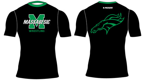 Massabesic Youth Wrestling Sublimated Compression Shirt - 5KounT2018