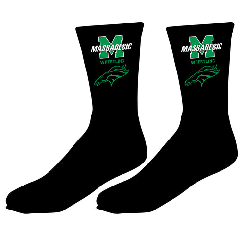 Massabesic Youth Wrestling Sublimated Socks