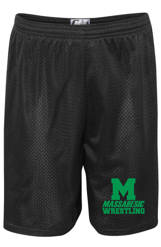 Massabesic Youth Wrestling Tech Shorts - Black - 5KounT2018