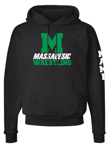 Massabesic Youth Wrestling Cotton Hoodie - Black - 5KounT2018